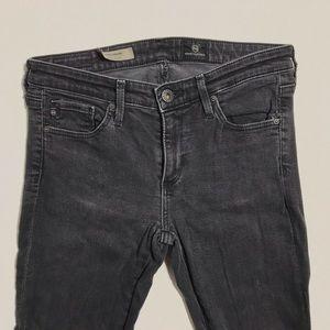 AG the legging super skinny jeans gray black 26